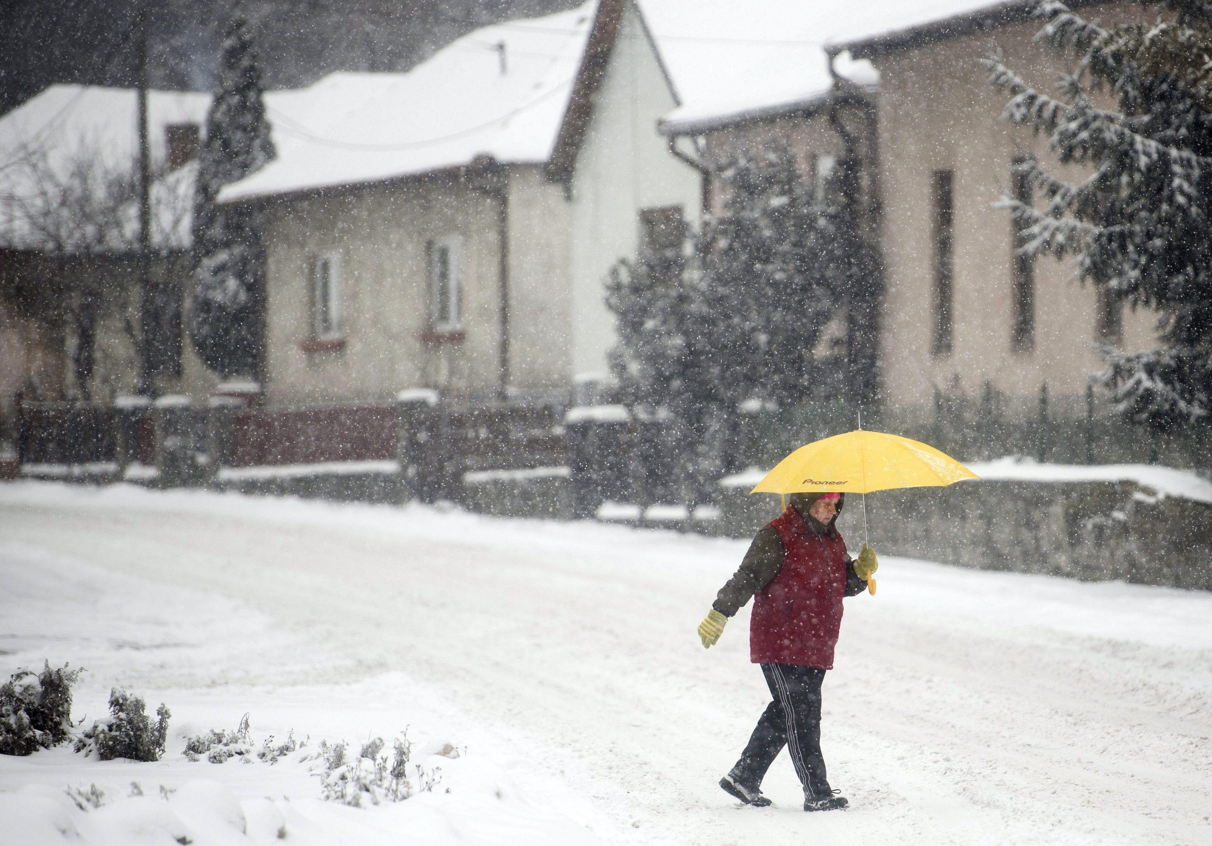 Fresh snow in Salgotarjan